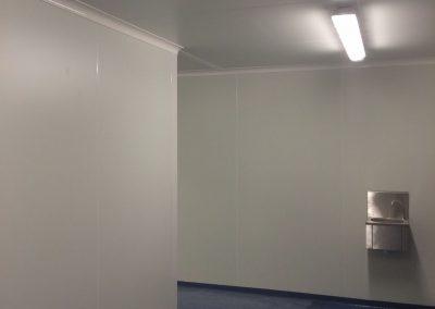 Hygiënische ruimte in isolatiepanelen