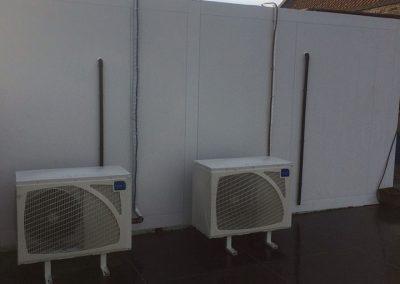 Koelcel exterieur - koeling met airco's
