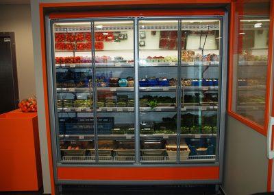 Friegel - realisatie - koelwand winkel West-Vlaanderen