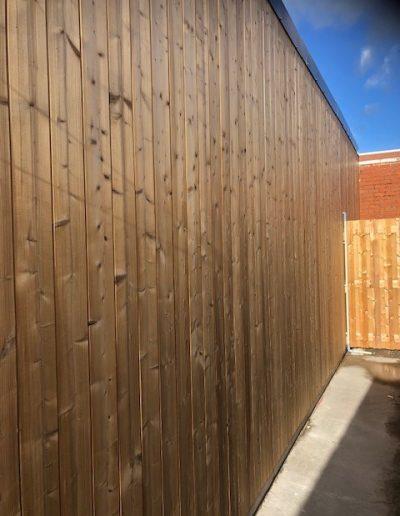 Aanbouw met afwerking in hout - Ieper